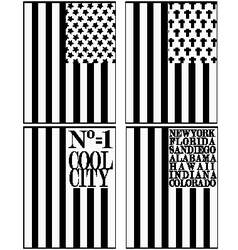 Set of various Made in the USA graphics and labels vector image