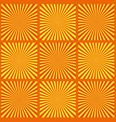 set of yellow rays retro vector image