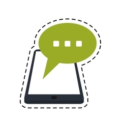 smartphone bubble speech chat communication dot vector image