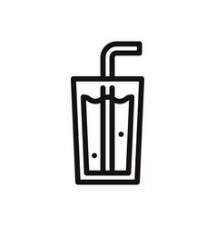 soda icon vector image