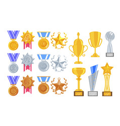 sport game business award item isolated set vector image