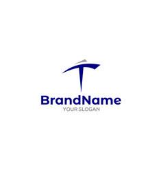 T ship logo design vector