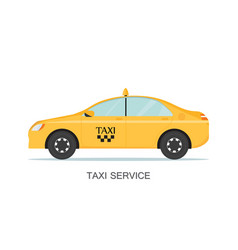 taxi cab isolated on white background vector image