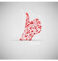 Template design Like symbol icon Valentines day vector image