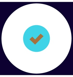 Tick computer symbol vector image