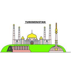 turkmenistan line skyline vector image