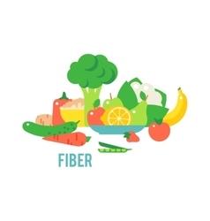 Vegetables food cellulose set vector