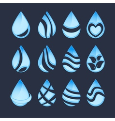 water drop symbols vector image