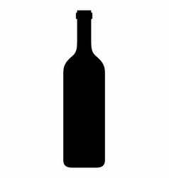wine bottle dark silhouette vector image