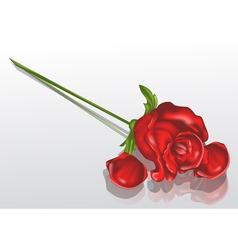 withered rose vector image