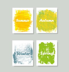 abstract image of the seasons vector image
