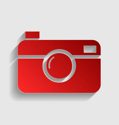 Digital photo camera sign vector image vector image