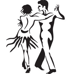 Latin dance rumba dancing couple vector image vector image