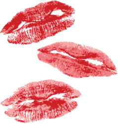 Lips imprint vector image vector image
