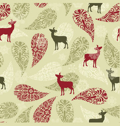 Retro Christmas Pattern Background vector image