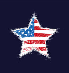 star in american flag vector image vector image
