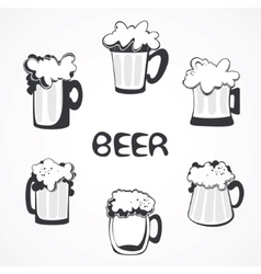 beer collection vector image