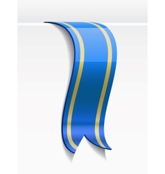 Blue bookmark decoration ribbon vector image vector image