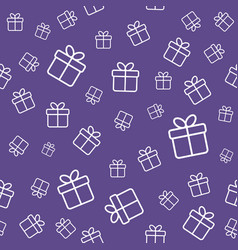 gift boxes seamless pattern ultra violet color vector image vector image