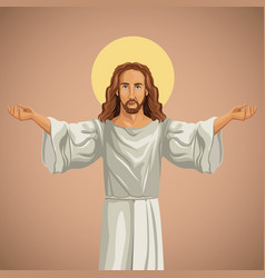 jesus christ religious praying image vector image