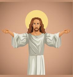 jesus christ religious praying image vector image vector image
