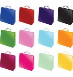 paper bag set vector image vector image