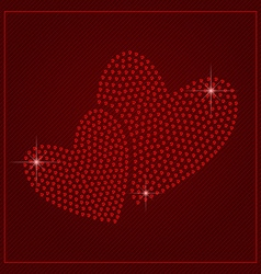 Rhinestone valentines day template vector