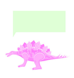 Dinosaur thinking speaking pink color isolated vector