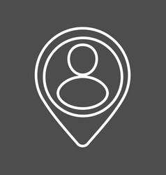 location icon line vector image