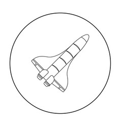 space shuttle icon in outline style isolated on vector image vector image