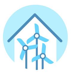 wind turbine icon alternative energy resource vector image