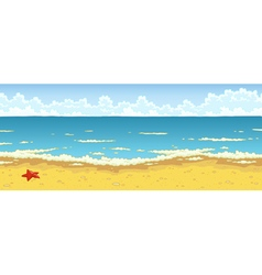bathing beach vector image