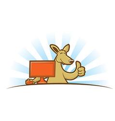 Computing Kangaroo vector image vector image