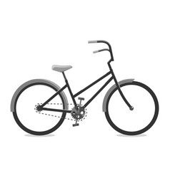 cycling black of a bicycle vector image