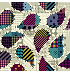 Paisley in patchwork style vector image
