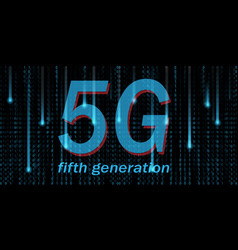 5g mobile networking big data binary code flow vector