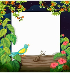 A bird and a white board vector image