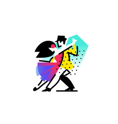 a dancing man and woman icon ballroom sports vector image