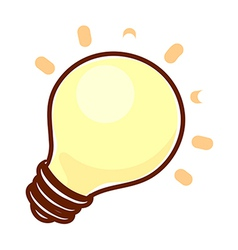 A electric light is placed vector