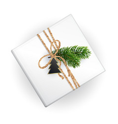 a mockup a christmas gift box for your pattern vector image