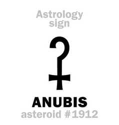 Astrology asteroid anubis vector