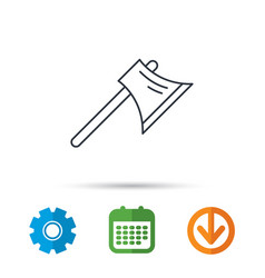 axe icon worker equipment sign vector image