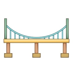 Big bridge icon cartoon style vector