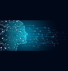 big data and artificial intelligence concept vector image