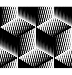 Black and white abstract geometric seamless 3d vector