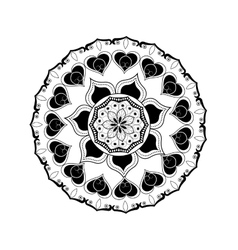 Black and white mandale design vector