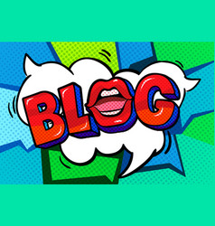 blog word bubble vector image
