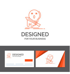 business logo template for death frag game kill vector image