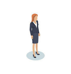 Businesswomen office employee female character vector