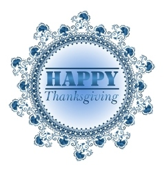 Card design style Happy Thanksgiving Day vector
